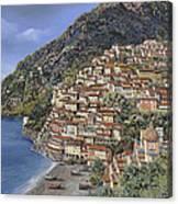 Positano E La Torre Clavel Canvas Print