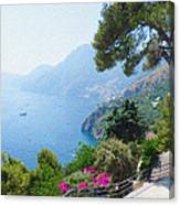 Positano Italy Amalfi Coast Delight Canvas Print