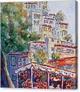 Positano Restaurant Canvas Print