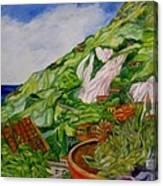 Positano Terrace Canvas Print