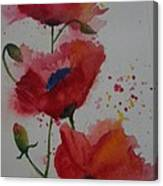 Positively Poppies Canvas Print