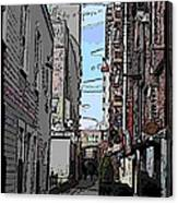 Post Alley 6 Canvas Print