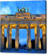 Post-it Art Berlin Brandenburg Gate Canvas Print