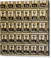 Post Office Combination Lock Boxes Canvas Print