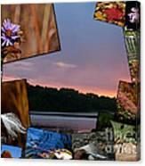 Postcard Autumn Memories Canvas Print
