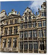 Postcard From Brussels - Grand Place Elegant Facades Canvas Print