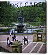 Postcard From Central Park Canvas Print