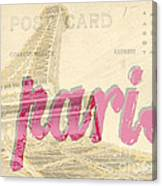 Postcard From Paris Canvas Print