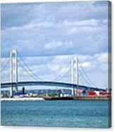 Postcard Of Mackinaw City Canvas Print