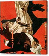 Poster Advertising A Performance Of Tosca Canvas Print