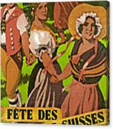 Poster Advertising F?te Des Costumes Canvas Print