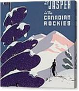 Poster Advertising The Canadian Ski Resort Jasper Canvas Print