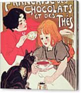 Poster Advertising The Compagnie Francaise Des Chocolats Et Des Thes Canvas Print