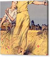 Poster Advertising The National Loan Canvas Print