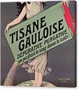 Poster Advertising Tisane Gauloise Canvas Print
