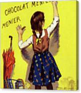 Poster Chocolate, 1893 Canvas Print