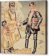 Poster Depicting The Alliance Between The City And The Countryside, 1925 Colour Litho Canvas Print