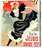 Poster For Le Bal Bullier. Meunier, Georges 1869-1942 Canvas Print