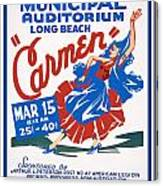 Poster For Production Of Carmen Canvas Print