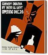 Poster For The Play The Devil Passes Canvas Print