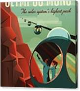 Poster For Tours Of Olympus Mons Canvas Print