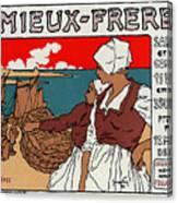 Poster Sardines, 1899 Canvas Print