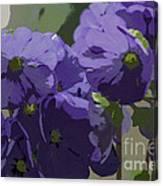 Posterised Flowers Canvas Print