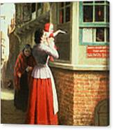 Posting A Letter, 1879 Canvas Print