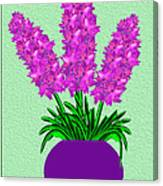 Pot Of Pink Flowers Canvas Print