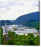 Potomac River At Harpers Ferry Canvas Print