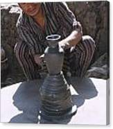 Potter At Work In Bhaktapur Canvas Print