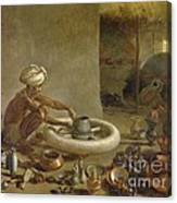 Potter In India, 1790s Canvas Print