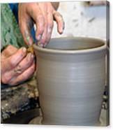Potters Hands Canvas Print