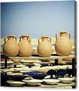 Pottery Market Canvas Print