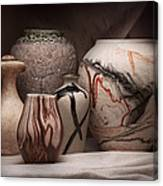Pottery Still Life Canvas Print