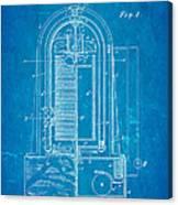 Poulsen Magnetic Tape Recorder Patent Art 1900 Blueprint Canvas Print