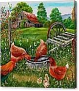 Poultry Peckin Pals Canvas Print