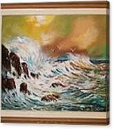 Pounding Surf Canvas Print