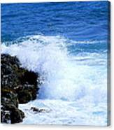 Pounding The Reef Canvas Print