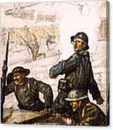 Pour La Victoire - W W 1 - 1918 Canvas Print