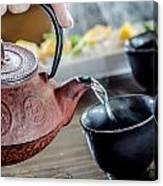 Pouring Japanese Tea Canvas Print