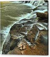 Pouring Through The New River Canvas Print