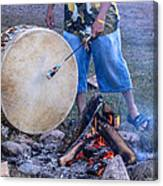 Pow Wow 58 Tuning The Drum Canvas Print