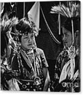 Pow-wow Buddies Canvas Print