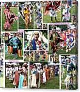 Pow Wow Collage Canvas Print
