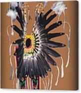 Pow Wow Regalia - Orange Canvas Print