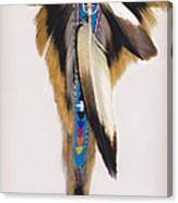 Pow Wow Regalia - White Canvas Print