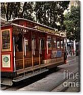 Powell And Market Cable Car Canvas Print