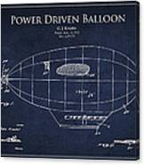 Power Driven Balloon Patent Canvas Print