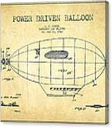Power Driven Balloon Patent-vintage Canvas Print